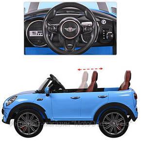 Электромобиль Mini Cooper S синий, фото 2