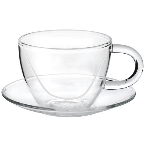 Чашка стеклянная с блюдцем Chi Kao 100 мл (127LB)