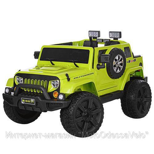 Электромобиль Джип Mighty зеленый