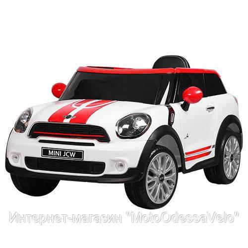 Электромобиль Mini jcw белый