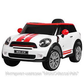 Электромобиль Mini jcw белый, фото 2