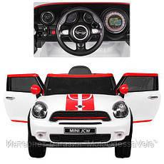 Электромобиль Mini jcw белый, фото 3