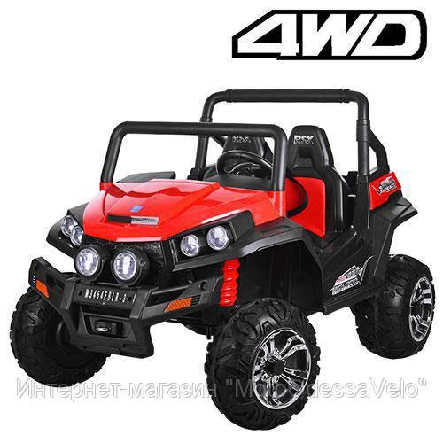 Электромобиль Багги UTV 4WD красный