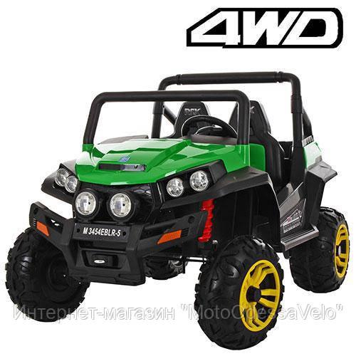 Электромобиль Багги UTV 4WD зеленый