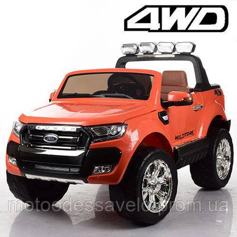 Электромобиль Джип Ford Renger 4WD красный, фото 2