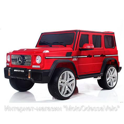 Электромобиль Mercedes-Benz G-Wagen красный, фото 2