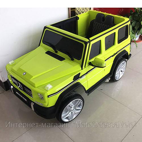 Электромобиль Mercedes-Benz AMG зеленый
