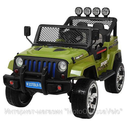 Электромобиль Jeep Wrangler 4WD зеленый