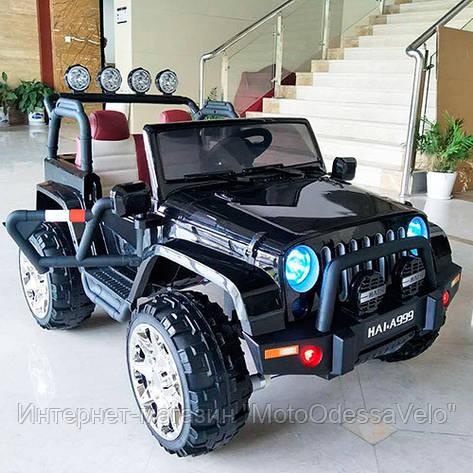 Электромобиль Джип Rubicon черный, фото 2