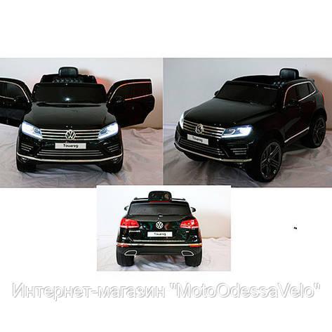 Электромобиль Джип VW Touareg черный, фото 2