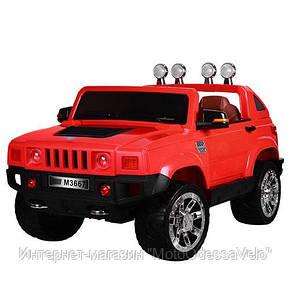 Электромобиль Джип Hummer красный, фото 2