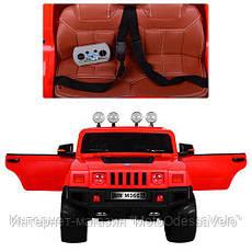 Электромобиль Джип Hummer красный, фото 3