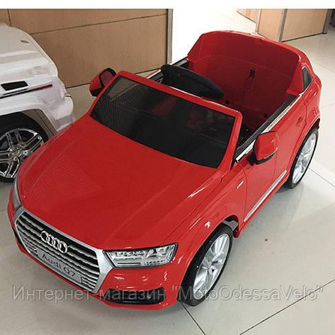 Электромобиль Джип audi Q7 красный, фото 2