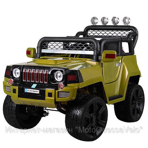Электромобиль Джип Hummer 4WD зеленый