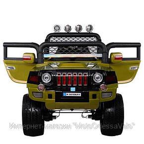 Электромобиль Джип Hummer 4WD зеленый, фото 2