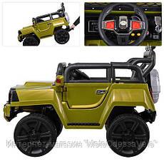 Электромобиль Джип Hummer 4WD зеленый, фото 3