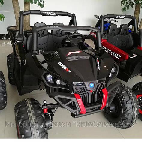 Электромобиль Джип UTV-MX черный, фото 2