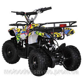 Электро квадроцикл Profy ATV 800W графити, фото 2