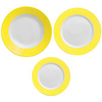 Набор столовый Luminarc Color Days Yellow 18 предметів
