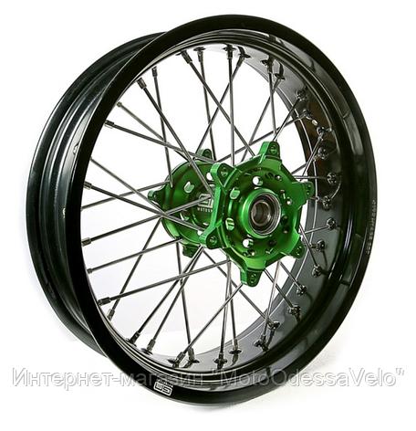 Диск алюминиевый спицованный GN-motors Kawasaki 5.0-17, фото 2