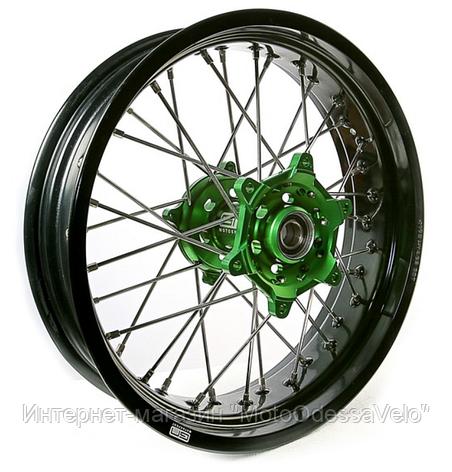 Диск алюминиевый спицованный GN-motors Kawasaki 4.25-17, фото 2