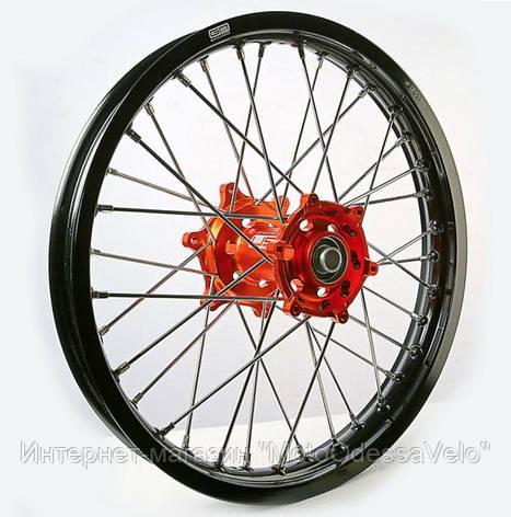Диск алюминиевый спицованный GN-motors KTM 1.85-19 + тормозной диск 240 мм, фото 2