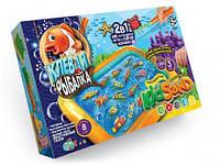 Настольная игра 2 в 1 Клевая рыбалка и Кинетический песок Kidsand