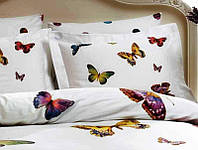 Евро комплект постельного белья Tivolyo Home BATTERFLY