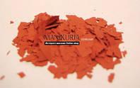 Моро-мраморные кусочки для дизайна ногтей, красный