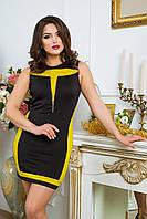 """Donna-M Платье """"Паулина"""" (черный+фисташковый) 2000000022819"""