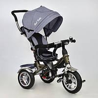 Велосипед коляска с поворотным сиденьем Best Trike 5688 LEN (надувные колеса) серый