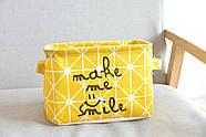 Корзина для игрушек Улыбка, желтый Berni, фото 5