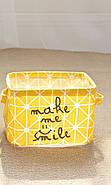 Корзина для игрушек Улыбка, желтый Berni, фото 4