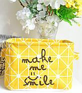 Корзина для игрушек Улыбка, желтый Berni, фото 9