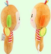 Мягкая игрушка - погремушка Мартышка Happy Monkey, фото 3