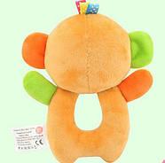 Мягкая игрушка - погремушка Мартышка Happy Monkey, фото 2