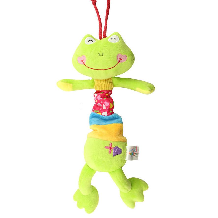 Мягкая музыкальная подвеска Лягушка Happy Monkey