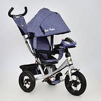 Трехколесный велосипед ,велосипед коляска с поворотным сиденьем Best Trike 7700 В - 5670 (ткань Лен)