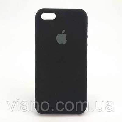 Силиконовый чехол iPhone 5/5S/SE (Чёрный) Apple silicone case