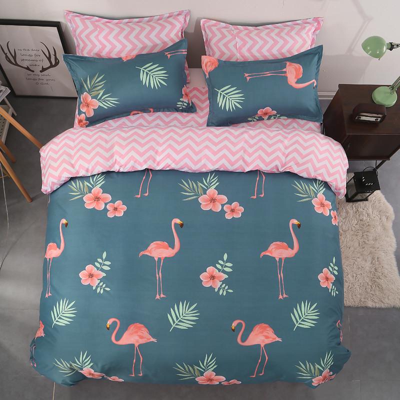 Постельное белье комплект  Фламинго и зигзаги Berni