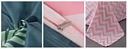 Постельное белье комплект  Фламинго и зигзаги Berni, фото 2
