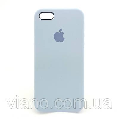 Силиконовый чехол iPhone 5/5S/SE, Apple silicone case (Голубой)
