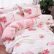 Постельное белье комплект   Большой фламинго (полуторный) Berni, фото 2