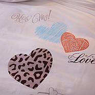 Комплект постельного белья Люблю тебя (полуторный) Berni, фото 5