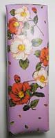 Подлокотник кирпич, цветы, кожзам