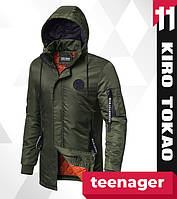 11 Kiro Tokao | Японская парка на подростка весенняя 66201-1 хаки