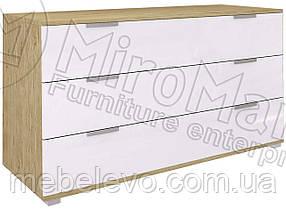 Верона Комод 3Ш 800х1060х462мм дуб сан-морино + белый глянец   Миро-Марк
