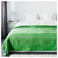 ИНДИРА Покрывало, зеленый, 250x250 см 20304350 ИКЕА, IKEA, INDIRA