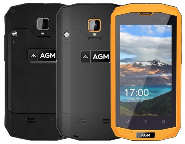 "Смартфон AGM A8 mini 1/8Gb Black, IP68, 8/2 Мп, 4"" TFT, 4G, 2600 мАч, Snapdragon 210, 4 ядра"