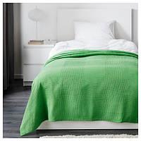 ИНДИРА Покрывало, зеленый, 150x250 см 60304348 ИКЕА, IKEA, INDIRA